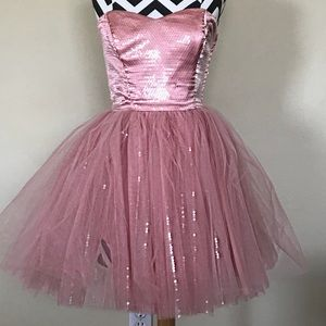 Betsy Johnson Sparkly Pink Party Dress